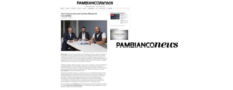 Pambianco news articolo Bilancio di Sostenibilità Nice Footwear