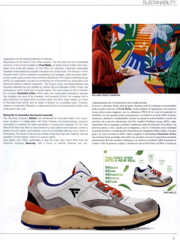 prima sneaker ecostenibile per Fred Mello Nice Footwear