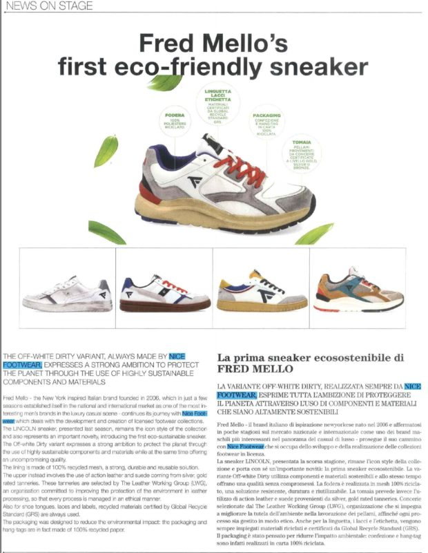 Nice Footwear Fred Mello ecosostenibile