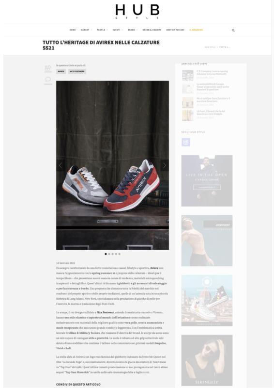 Avirex Nice Footwear SS21