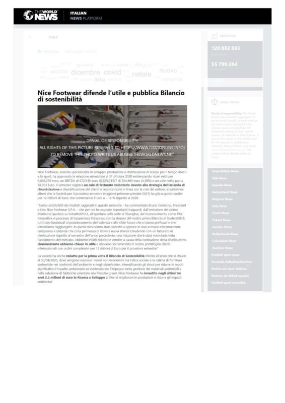 articolo twnews 15.12.2020 Bilancio di Sostenibilità