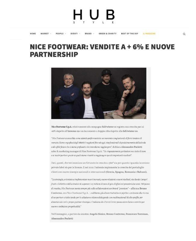 HUB STYLE- Nice Footwear: vendite a + 6% e nuove partnership